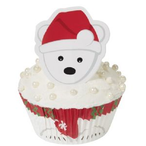 Cupcake Decorating Kit Polar Bear pk/24